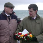 David Barlow, Anson commemoration organiser & Mark Berryman, Chairman of Porthleven Town Council.