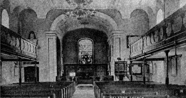 ST. MICHAEL`S CHURCH INTERIOR 1903