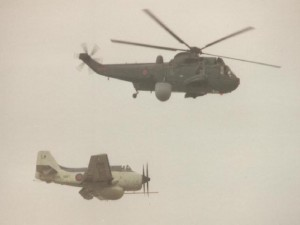 GANNET AEW3 & its replacement, the SEAKING AEW  Photo BOB TURNER