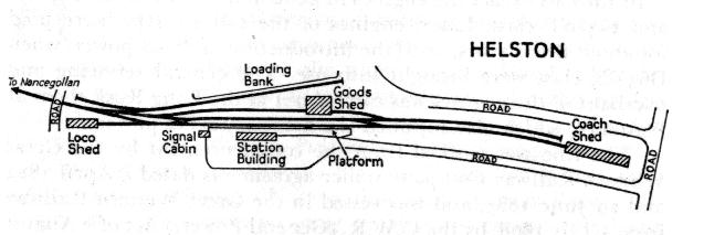 HELSTON STATION MAP
