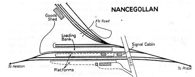 NANCEGOLLAN STATION MAP