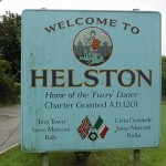HELSTON FLORA DAY SIGN