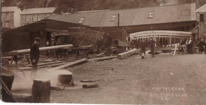 KITTOWS BOAT BUILDING YARD 1912