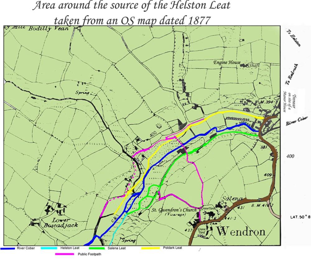 HELSTON LEAT MAP