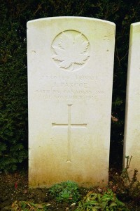 JOHN PASCOE'S GRAVE, AULNOY, FRANCE
