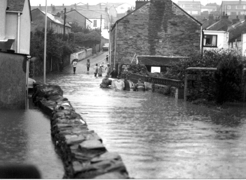 PORTHLEVEN FLOODS 1993