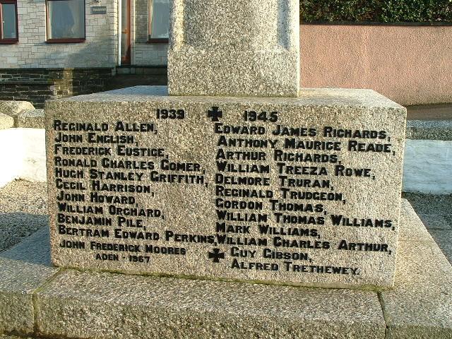 PORTHLEVEN WAR MEMORIAL