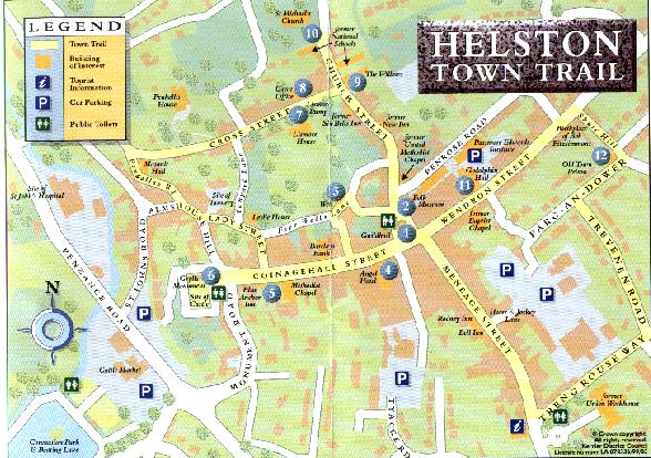 HELSTON TOWN TRAIL MAP