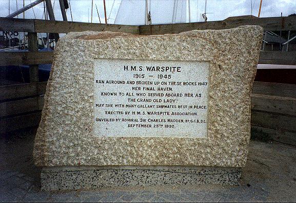 HMS WARSPITE MEMORIAL