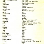 CORNISH DIALECT WORDS A