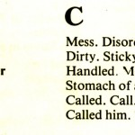 CORNISH DIALECT WORDS C