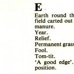 CORNISH DIALECT WORDS E